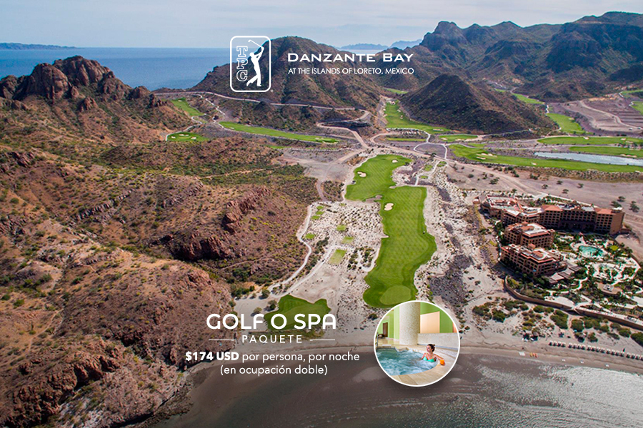 Paquete de golf o spa en Loreto Baja California